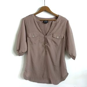 Angie brown blouse, size small